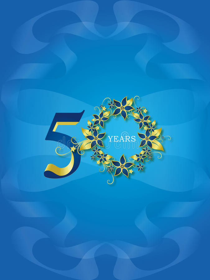 50 Years / Golden jubilee royalty free illustration