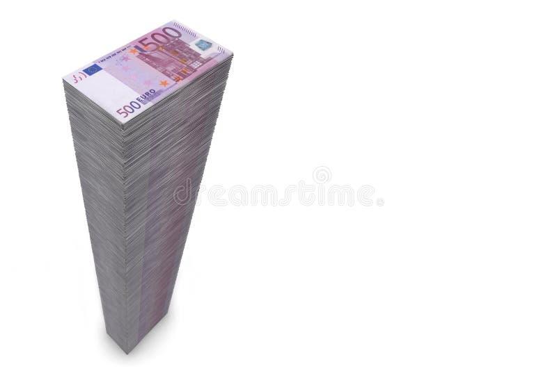 500 μεγάλες ευρο- σημειώσ&epsil ελεύθερη απεικόνιση δικαιώματος