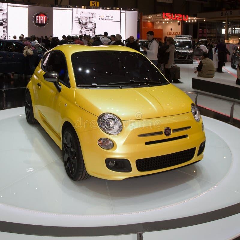 500 2011 zagato för show för begreppsfiatgeneva motor royaltyfria foton