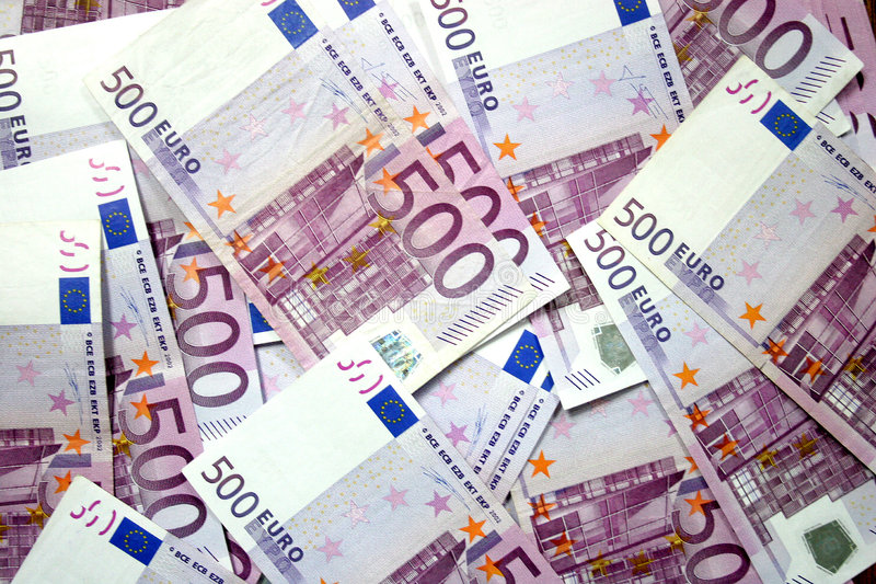 500 euro zdjęcia stock