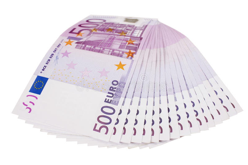 Download 500 Euro Banknotes Fan Isolated Stock Photo - Image: 11043790