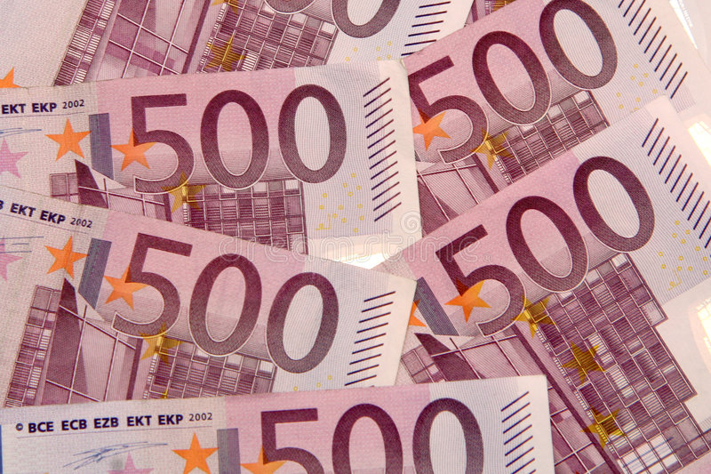 500 euro, cinco cem imagem de stock royalty free