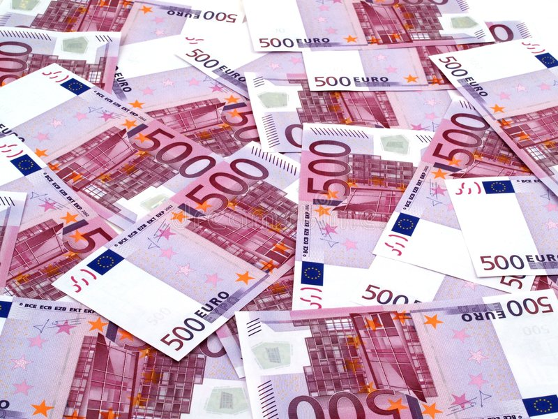 500 euro de fond images stock
