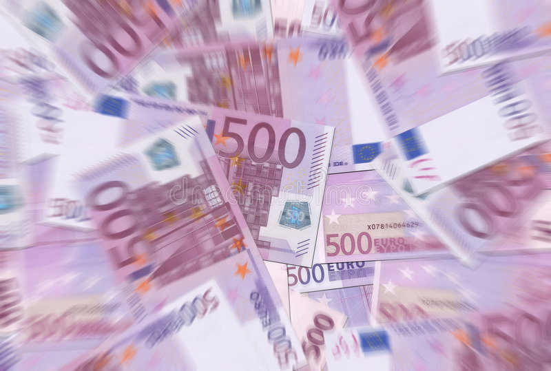 500 Euro Notes Texture Radial Blur Royalty Free Stock Photo
