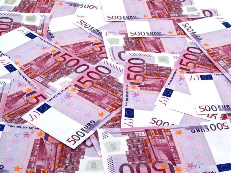 500 euros background stock images