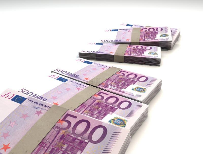 500 notas euro imagen de archivo
