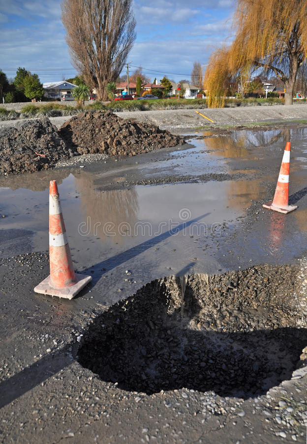5000 Houses Condemned in Christchurch New Zealand stock photos