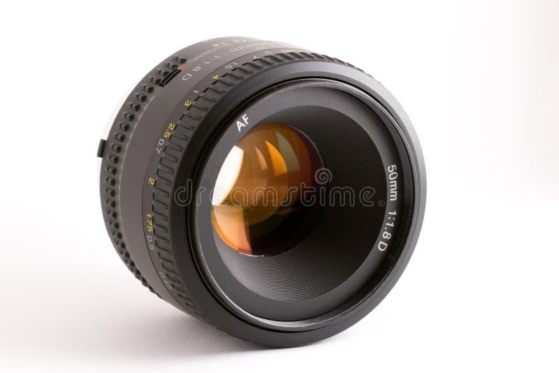 50mm自动照相机重点透镜 库存图片