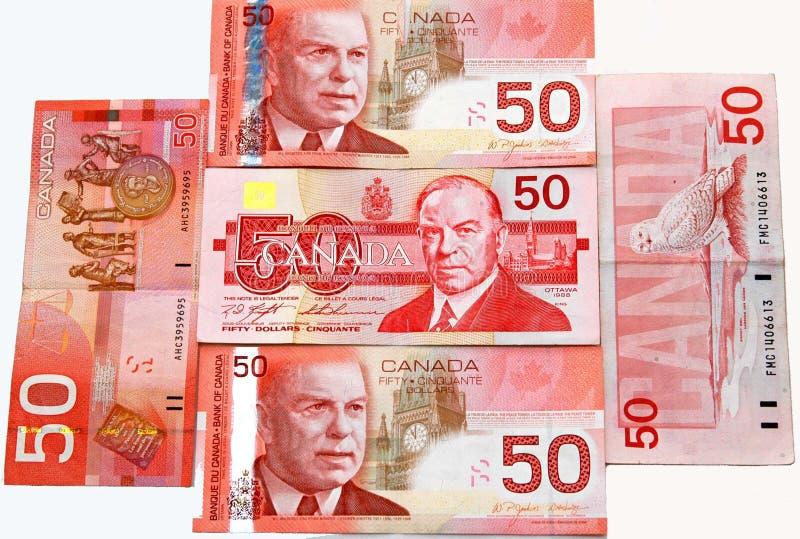 50s canadian dollar stock photography