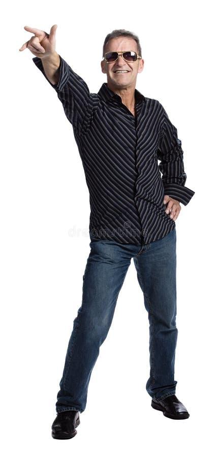 50s man sunglasses στοκ φωτογραφίες με δικαίωμα ελεύθερης χρήσης