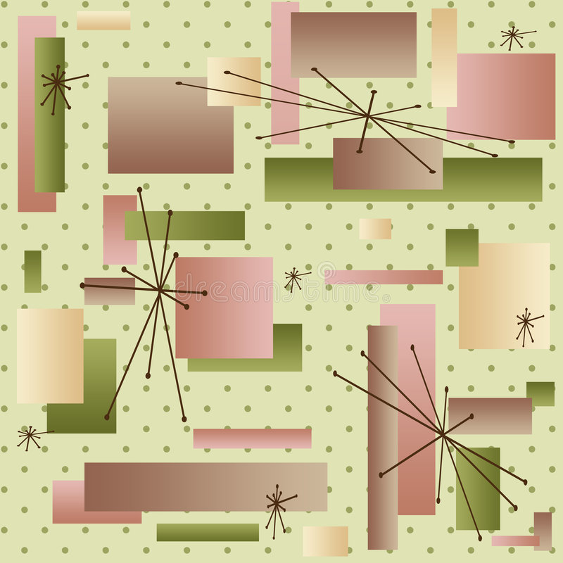 50s Wallpaper Royalty Free Stock Photography