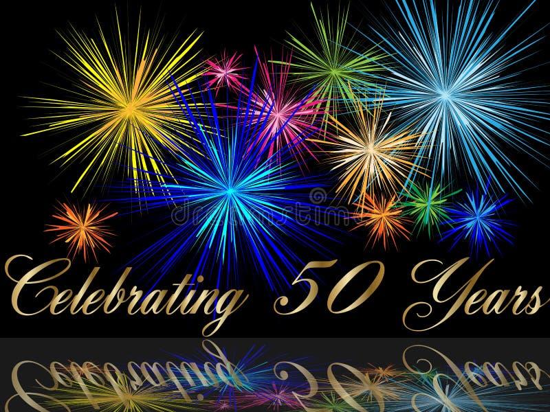 50ste het vieren verjaardag vector illustratie