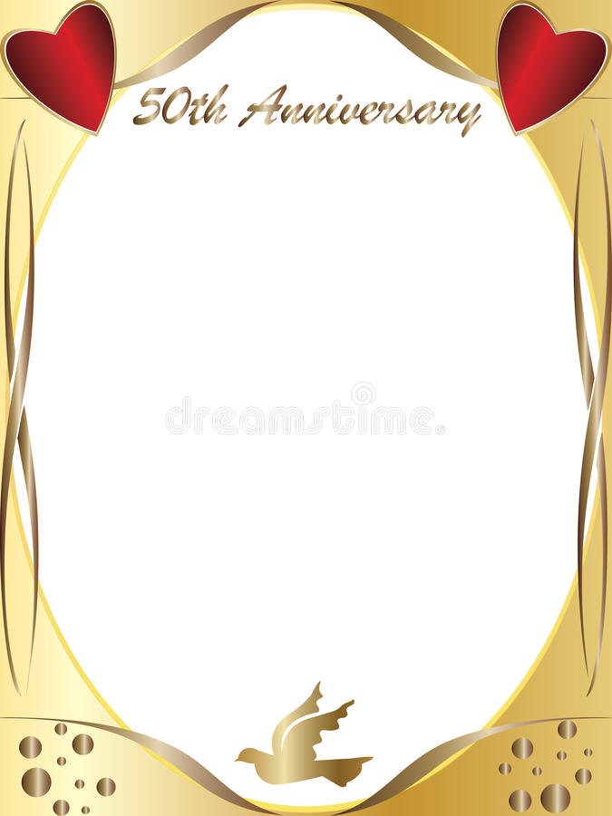 50th årsdagbröllop vektor illustrationer