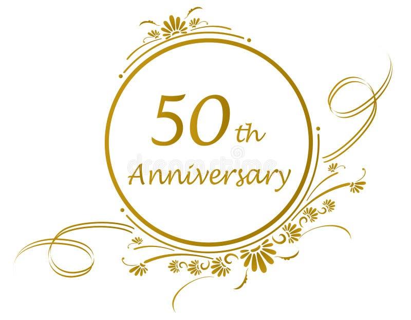 50th årsdagdesign arkivbild