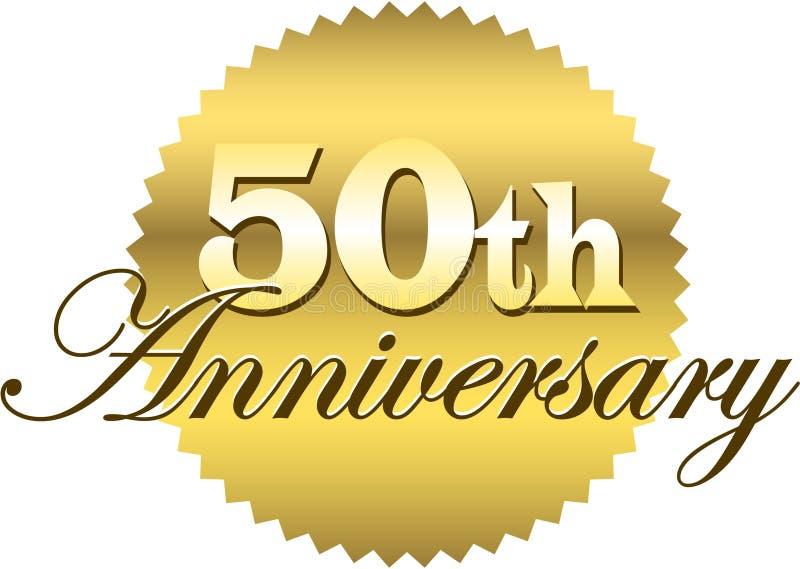 50th årsdageps-skyddsremsa royaltyfri illustrationer