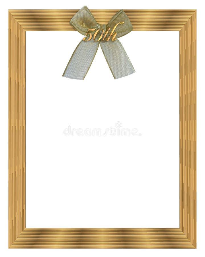 50th венчание рамки граници годовщины иллюстрация вектора