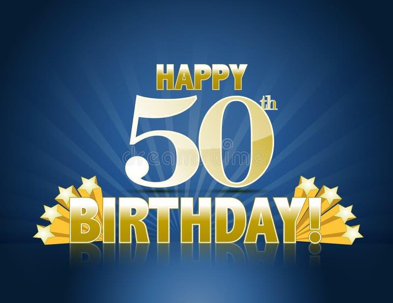 50th aniversário feliz ilustração stock