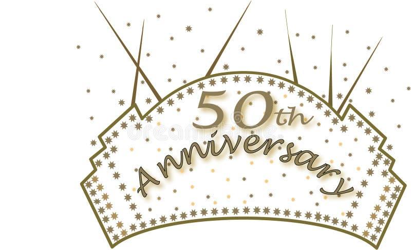 Download 50th anniversary stock illustration. Illustration of banner - 8077810