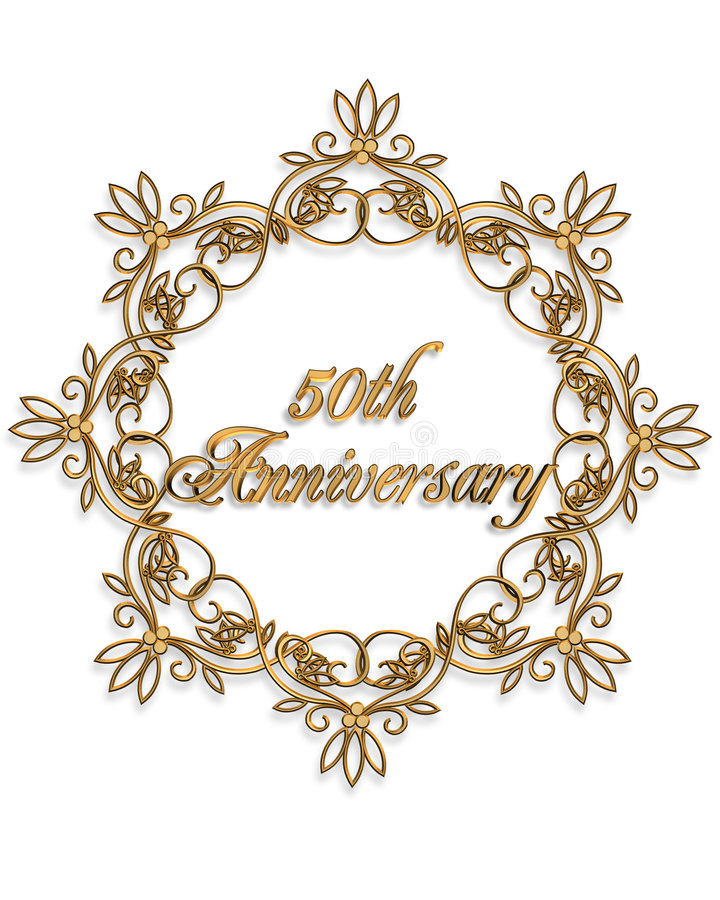 Download 50th Anniversary Design Element Stock Illustration - Image: 6355732
