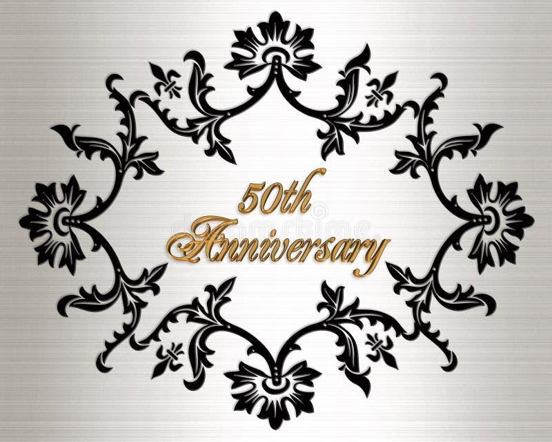 50th anniversary invitation card stock photos