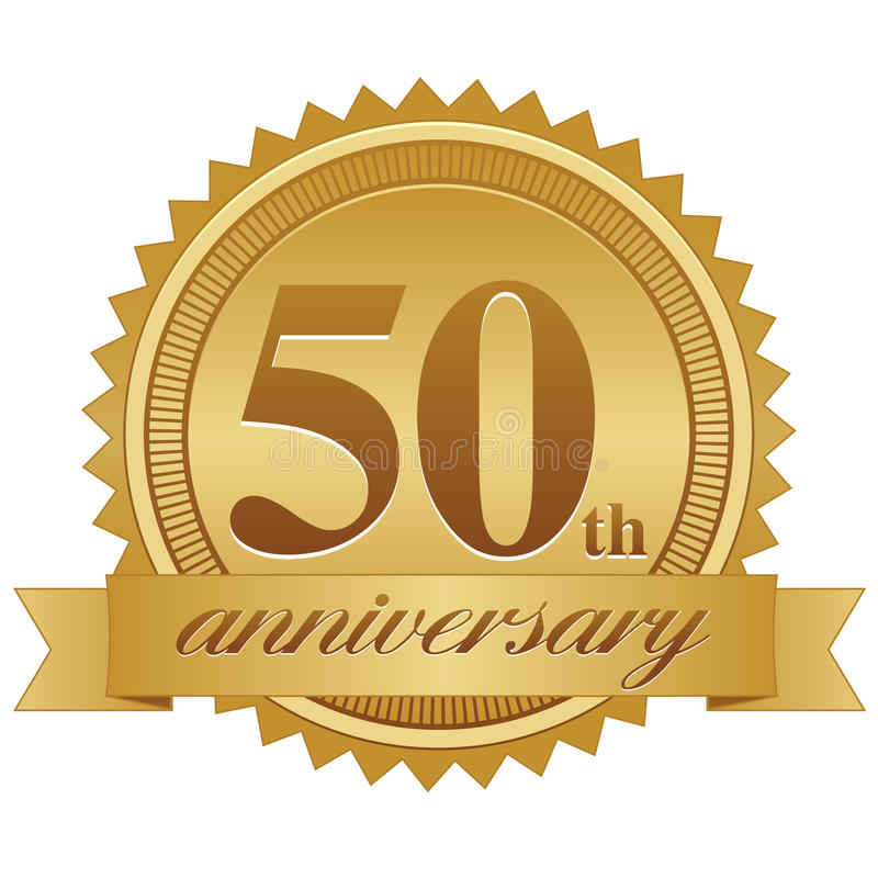 Free 50th Anniversary Seal EPS Stock Images - 15995404