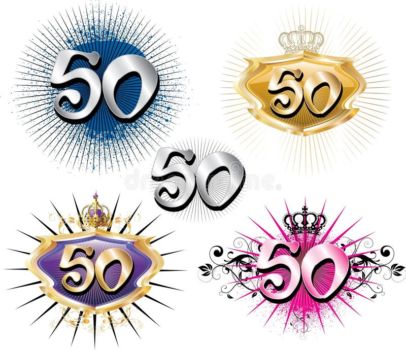 Download 50th Birthday Or Anniversary Stock Vector - Illustration of birthdays, celebrate: 15396720