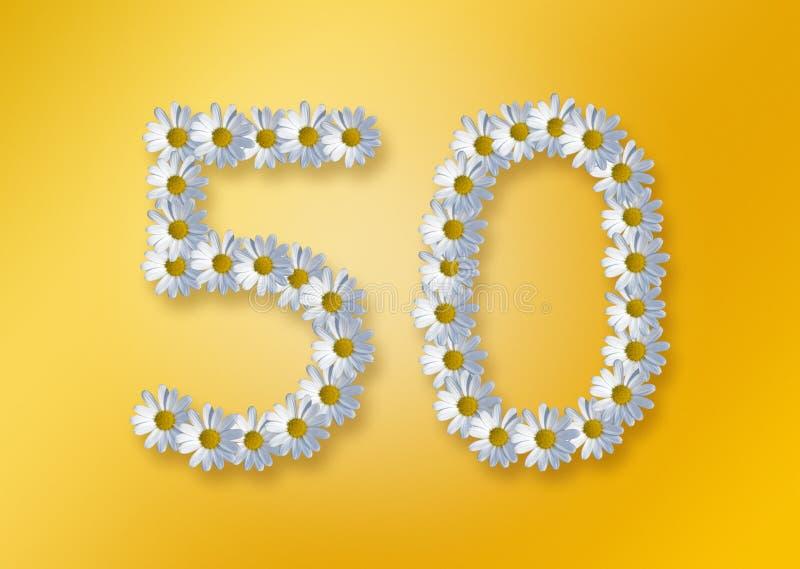 50th födelsedag stock illustrationer