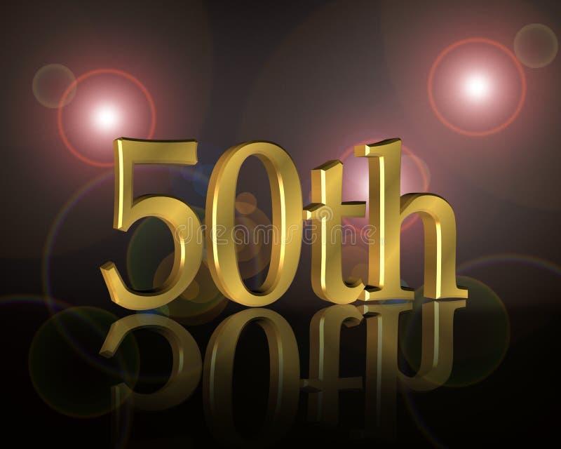 50th födelsedaginbjudandeltagare stock illustrationer