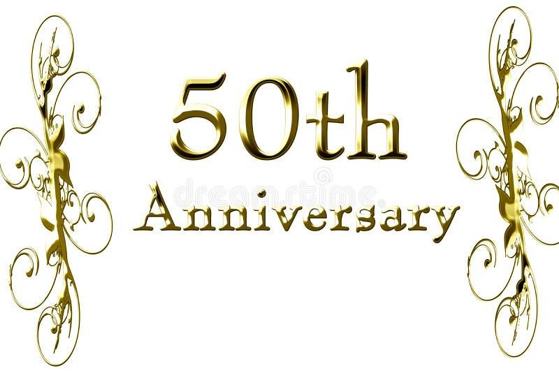 50th rocznica ilustracja wektor
