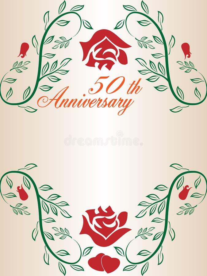 50th Wedding Anniversary Border Stock Image