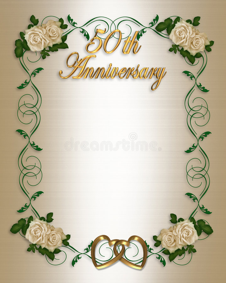 Free 50th Wedding Anniversary Invitation Stock Photography - 4246982
