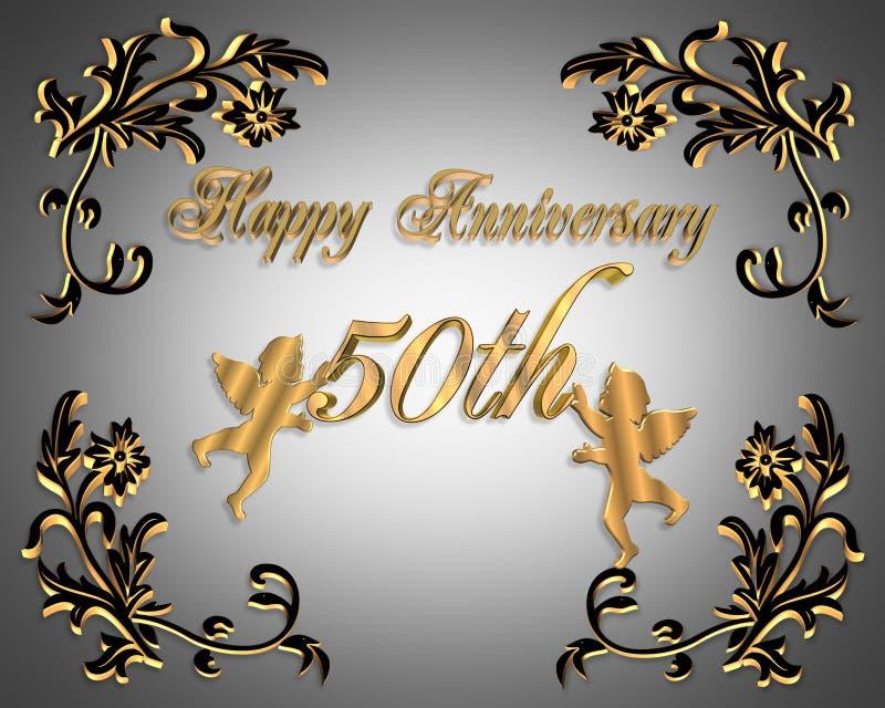 50Th Wedding Anniversary Invitation Elegant Stock Photos