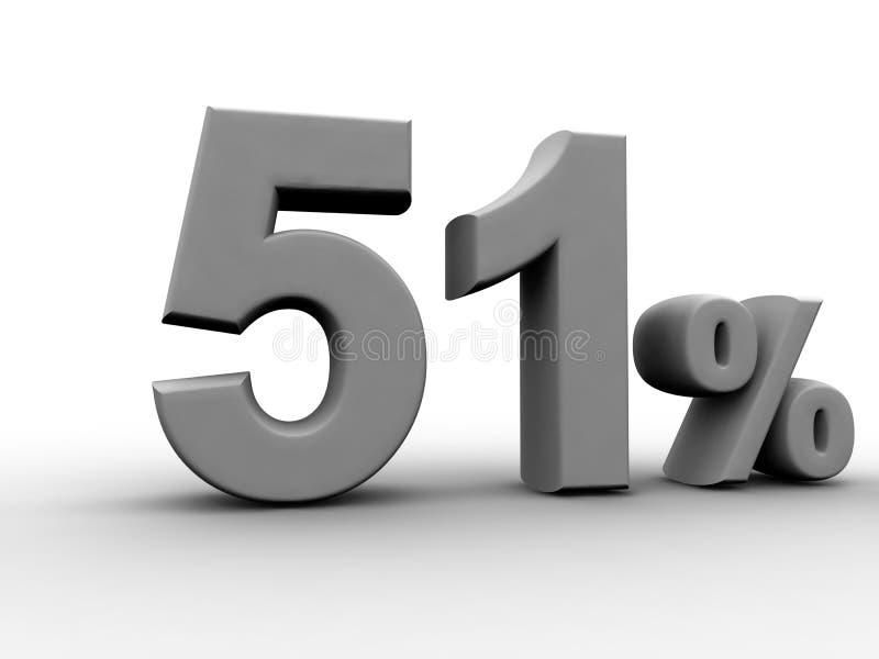 51 Percent vector illustration