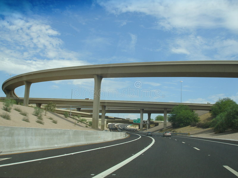 51 trasy stan Arizona autostrady zdjęcie royalty free