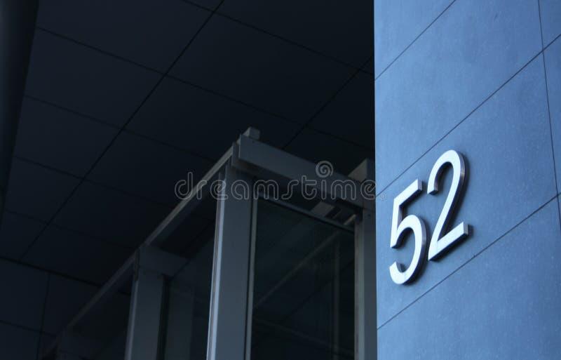 52大厦编号 免版税库存照片