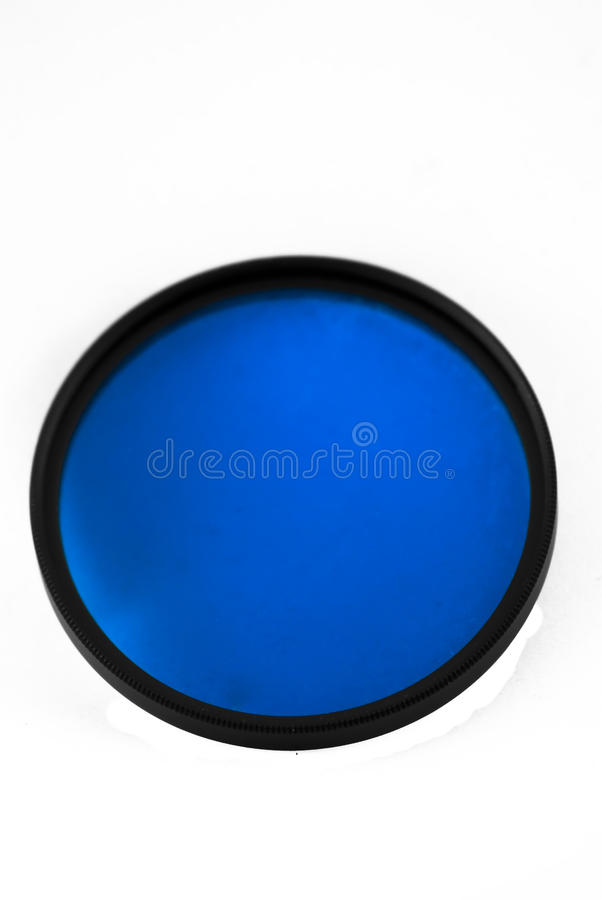 52mm Blue intensifier filter royalty free stock photo