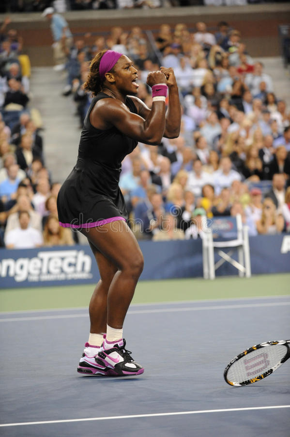 54 2009 öppna serena oss williams arkivfoton