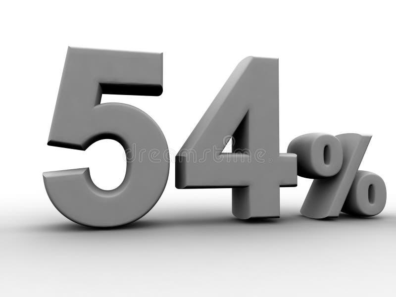 54% 皇族释放例证