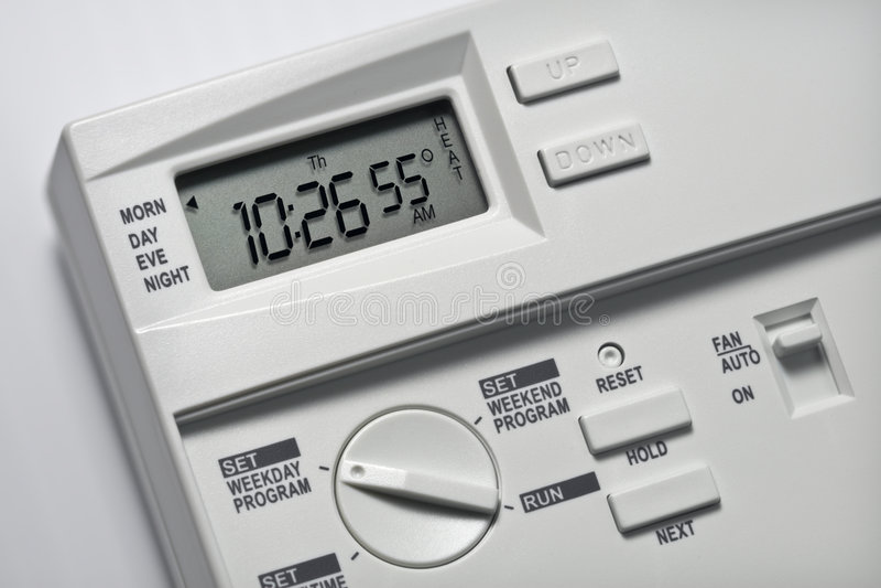 55 градусов нагрюют термостат стоковые фотографии rf