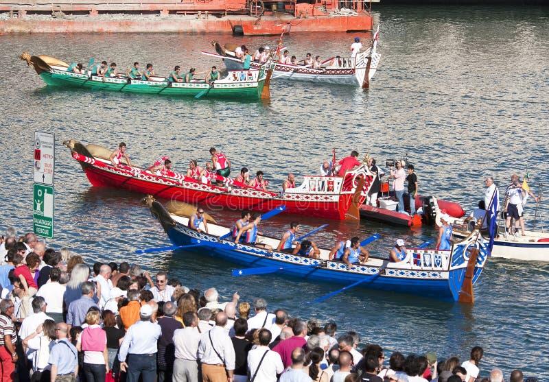 55th forntida maritima regattarepubliker royaltyfria bilder
