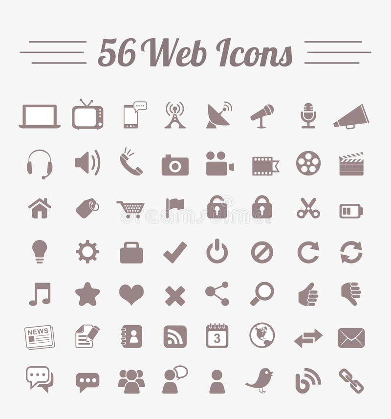 56 graphismes de Web illustration libre de droits