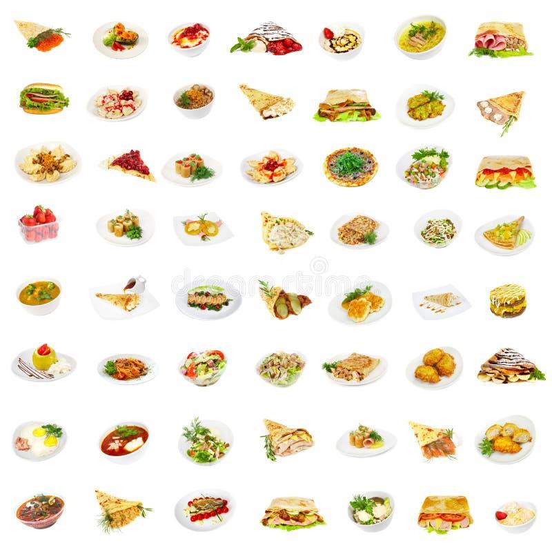 56 platos imagen de archivo libre de regalías