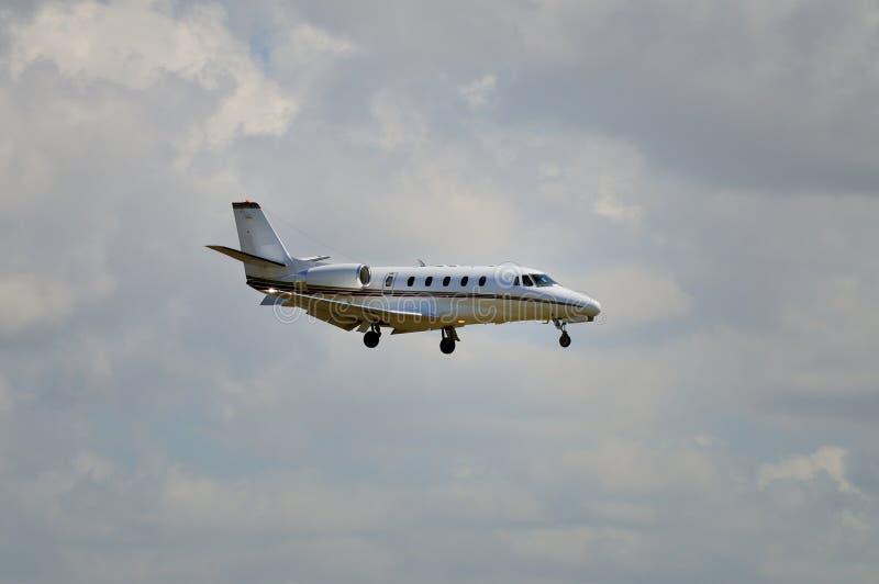 560xl企业cessna喷气机 免版税库存图片