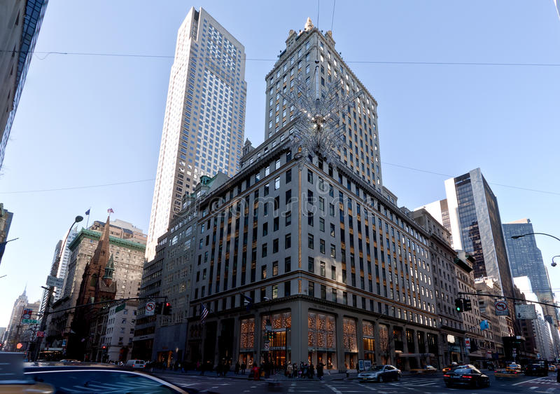 57 vie e quinto viale New York City immagine stock libera da diritti