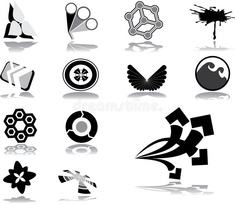 59品牌企业徽标 皇族释放例证