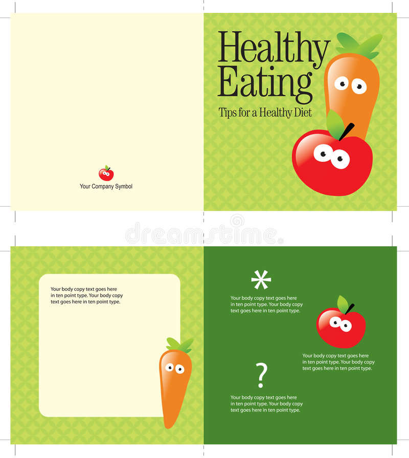 Download 5x10 Brochure Template stock vector. Image of face, apple - 8969767