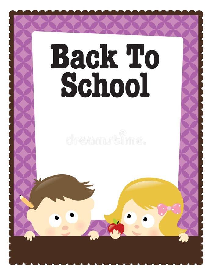 5x11 8 plecy chłopiec ulotki dziewczyny szkoła ilustracja wektor