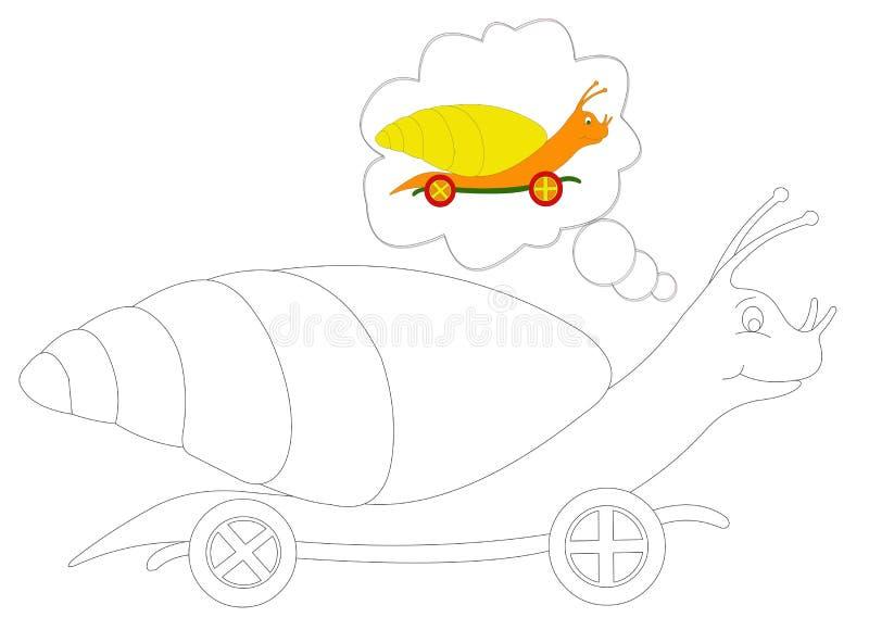 6上色蜗牛 库存例证