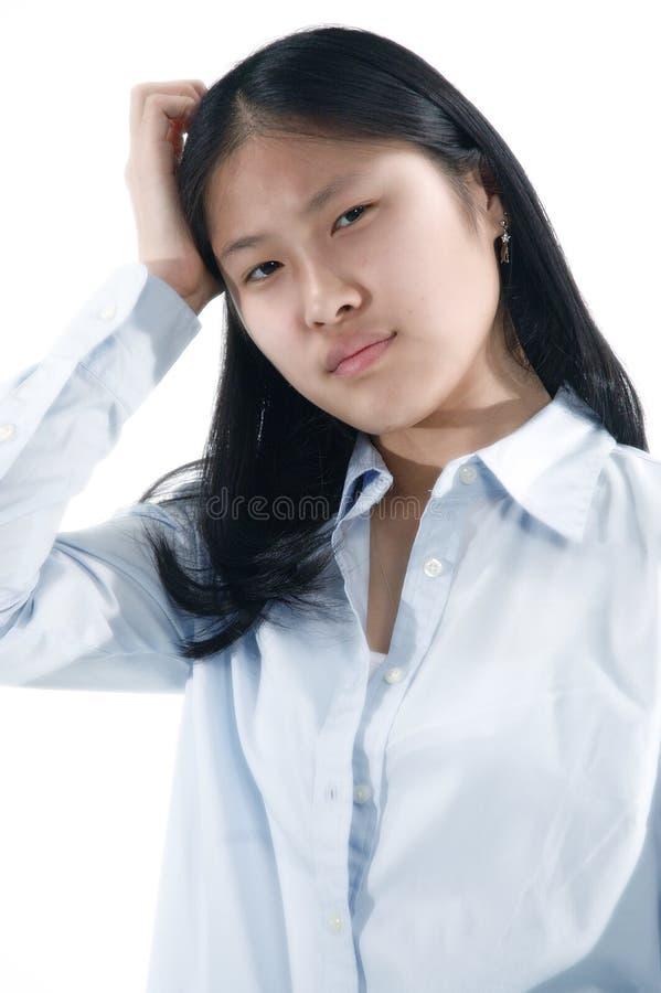 6个亚洲人女孩 免版税图库摄影