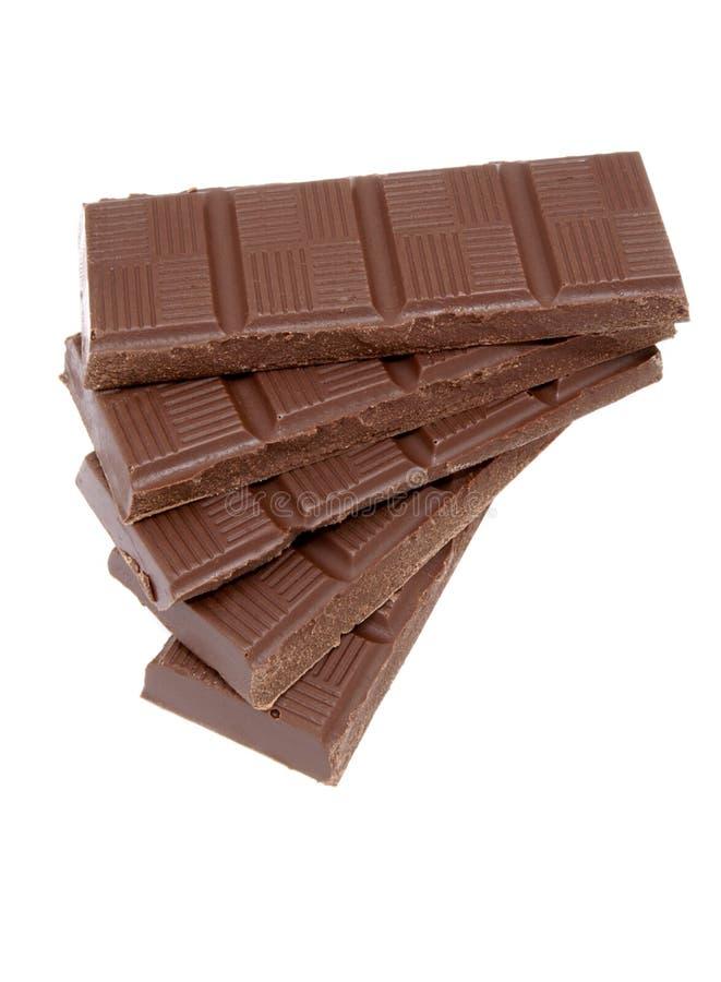 6个棒巧克力 库存照片